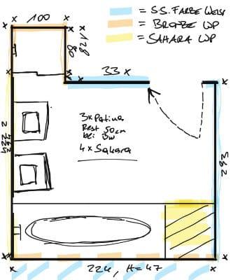 Bild zeigt Badezimmerentwurf