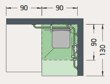 Bild zeigt Maße für barrierefreie Dusche