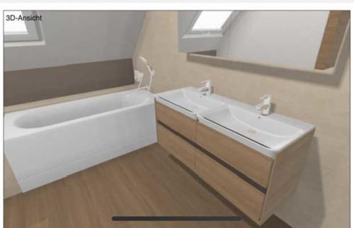 3D Ansicht Badewanne